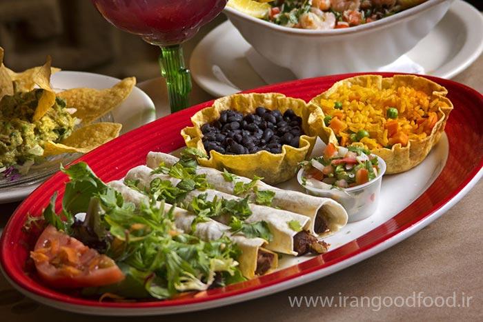 غذاهای رستوران مکزیکی